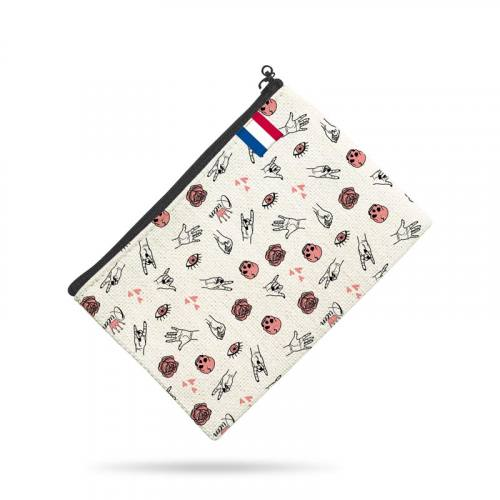 Kit pochette canvas motif girl power