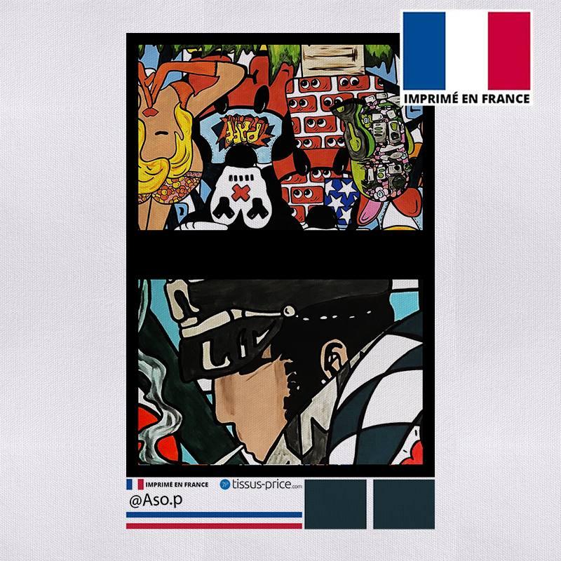 Kit pochette canvas motif aventurier - Création Anne-Sophie Dozoul