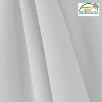 coupon - Coupon 62cm - Tissu occultant grande largeur gris perle thermique et phonique