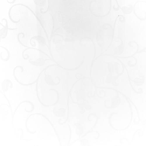 coupon - Coupon 38cm - Tissu jacquard blanc anti-tâche motif arabesque grande largeur