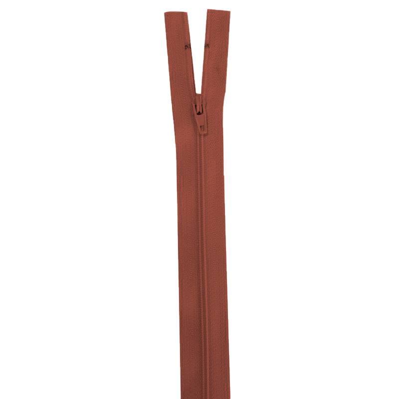 Fermeture rouge brique 20 cm non séparable col 850
