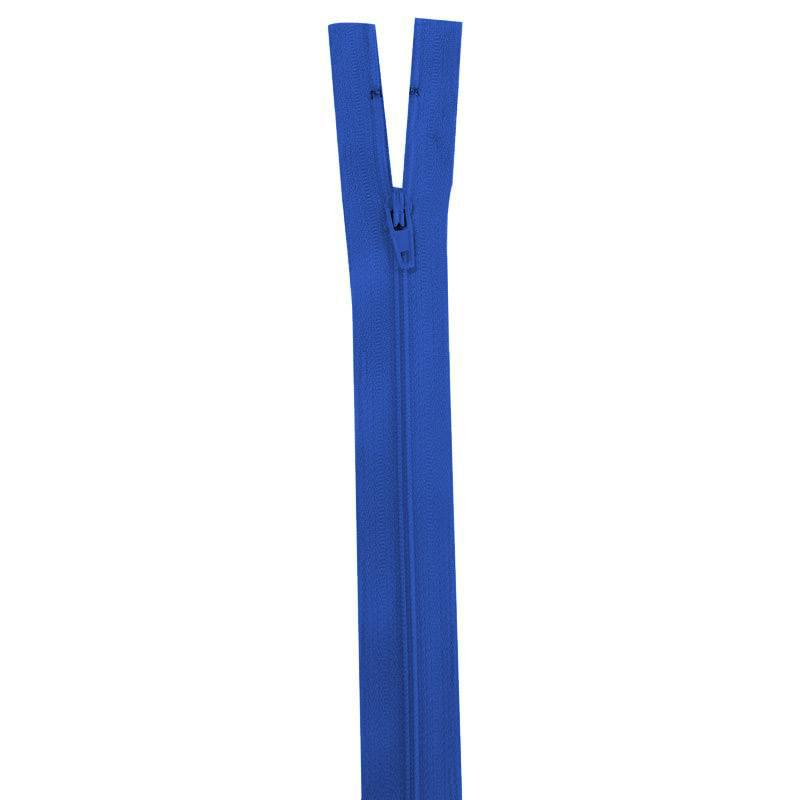 Fermeture bleu roi 40 cm non séparable col 918