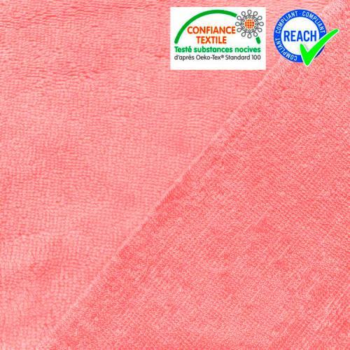 Micro éponge bambou rose bonbon double face