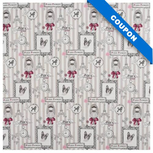 Coupon 50x68cm - Jacquard Paris Fashion