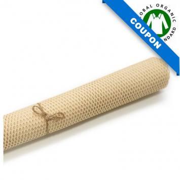 Coupon 85cm x 50cm de tissu filet mesh coton bio beige