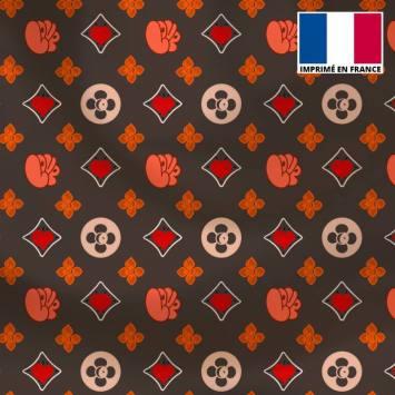 Satin gris motif monogramme coeur Le Loulou de Solliès-Pont - Anne-Sophie Dozoul