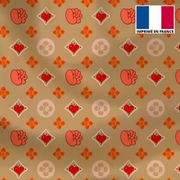 Satin or motif monogramme coeur Le Loulou de Solliès-Pont - Anne-Sophie Dozoul