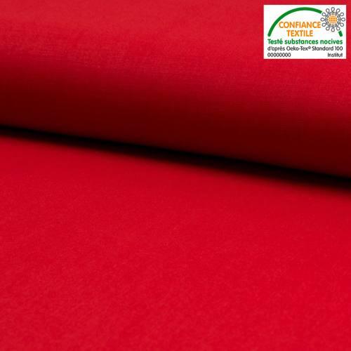 Coton uni rouge Oeko-tex