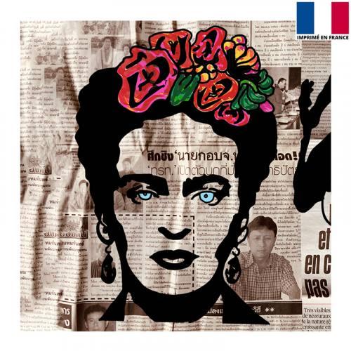 Coupon 45x45 cm - Femme mexicaine - Création Anne-Sophie Dozoul