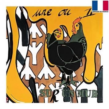 Coupon 45x45 cm - Poulettes - Création Anne-Sophie Dozoul