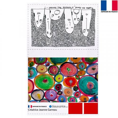 Kit pochette écru motif Pierre - Création Jeanne Garreau