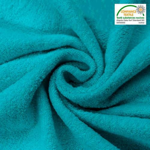 Tissu éponge bleu canard