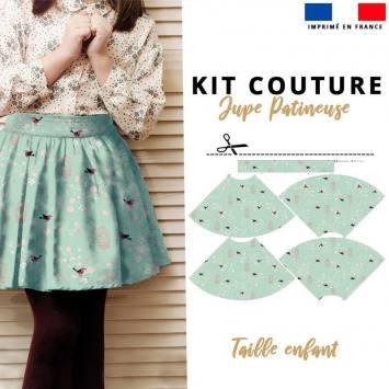 Kit Jupe Patineuse à Coudre - Collection Fleurie Enfant - Velours d'habillement