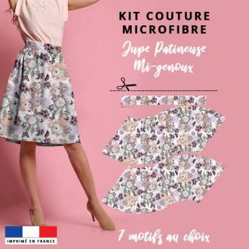 Kit Jupe Patineuse Mi-Genoux - Collection Automne 2020 - Microfibre