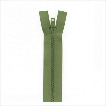 Fermeture injectée vert militaire 25 cm séparable col 999