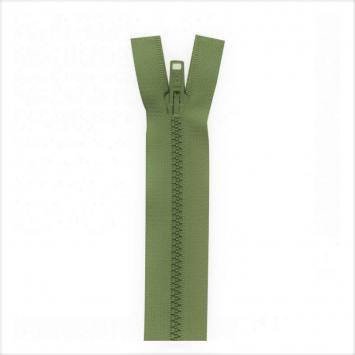 Fermeture injectée vert militaire 65 cm séparable col 999