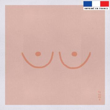 Coupon 45x45 cm toile canvas motif Seins - Création by Tonckka