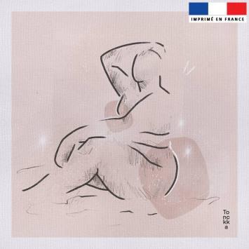 Coupon 45x45 cm toile canvas motif Gaïa - Création by Tonckka