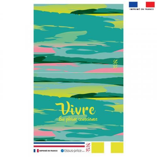 Kit pochette motif Vivre - Création Chaylart