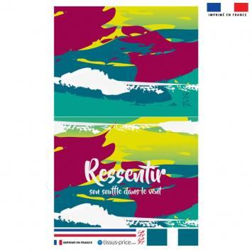 Kit pochette motif Ressentir - Création Chaylart