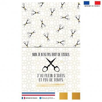 Kit pochette dorée motif couture
