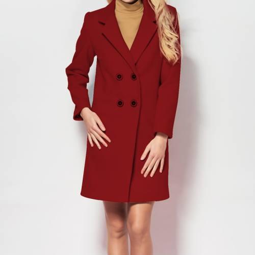 Tissu caban twill rouge