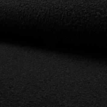 Tissu lainage bouclé noir