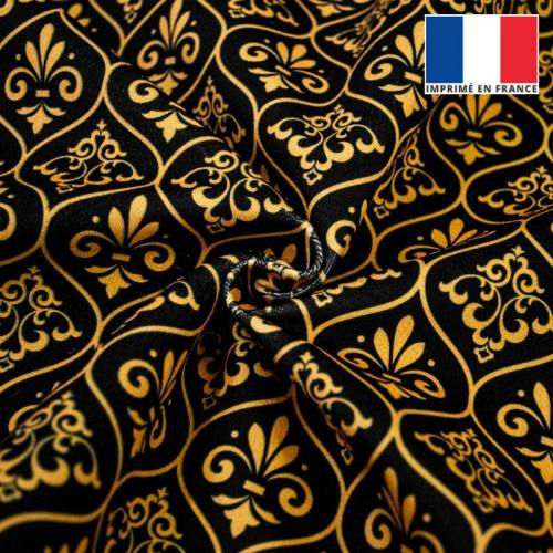 Ornements baroques jaune or - Fond noir