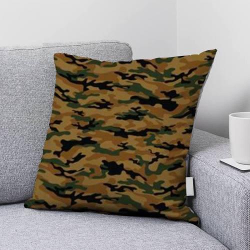 Camouflage vert et noir - Fond mordoré
