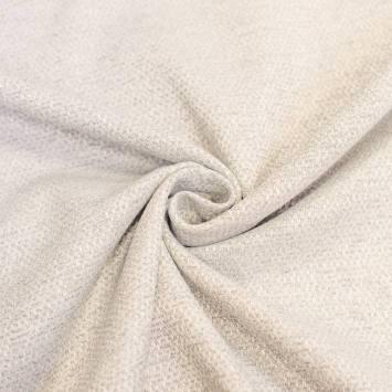 Tissu jacquard chiné crème grande largeur