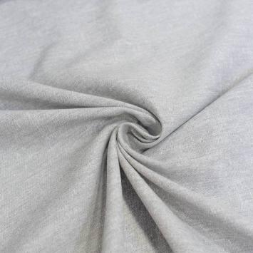 Voilage polycoton lin chiné gris grande largeur