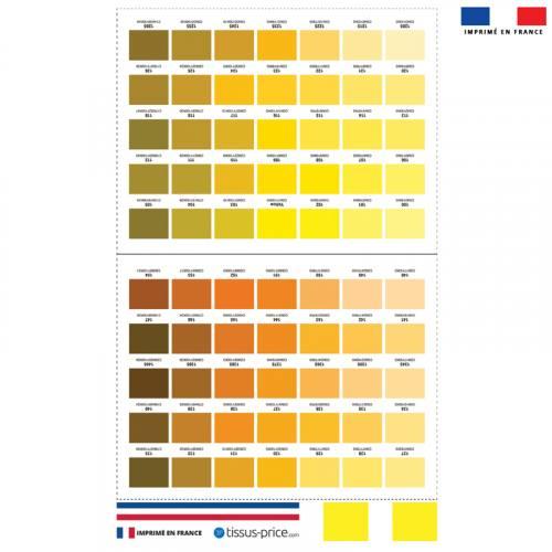 Kit pochette jaune motif nuancier