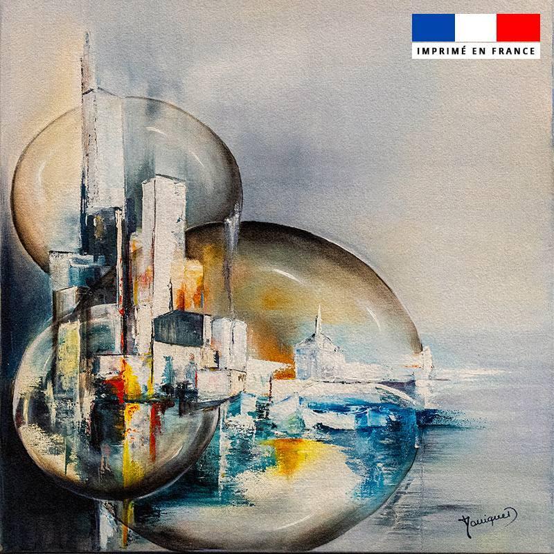 Coupon 45x45 cm motif Par le hublot - Création Monique.D
