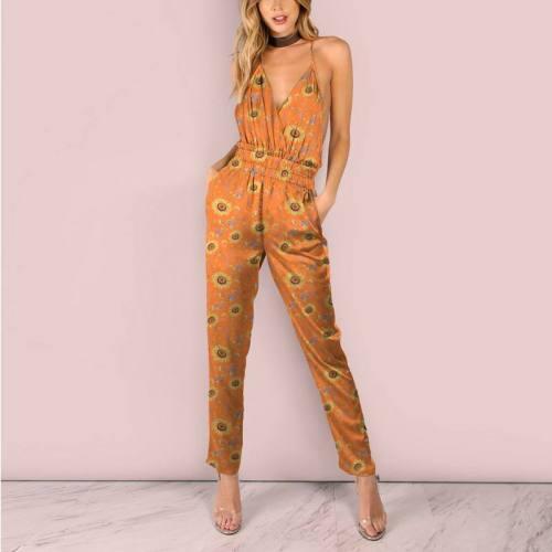 Tournesol jaune soleil - Fond orange abricot