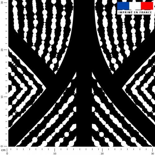 Géométrique abstrait noir - Fond écru