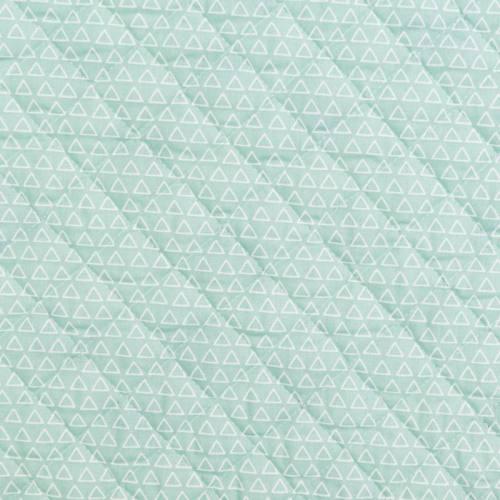 Tissu matelassé double face motif maony blanc et vert