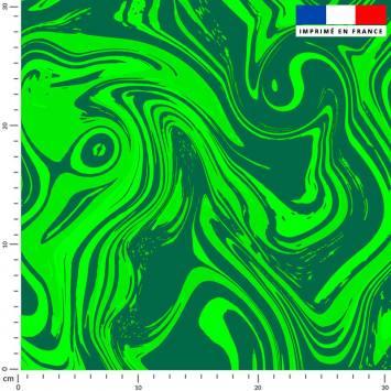 Fluide art vert - Fond vert foncé
