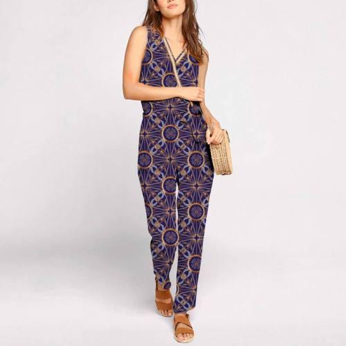 Foulard chaîne et ruban - Fond violet