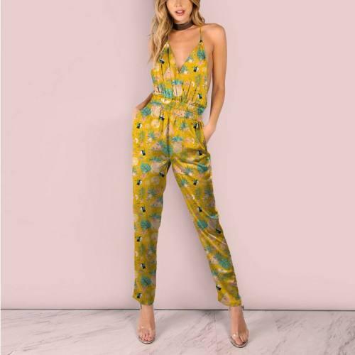 Toucan et pastèque tropicale - Fond jaune