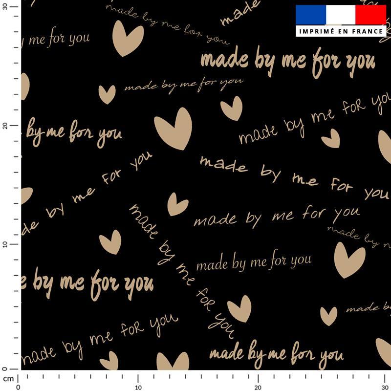 Made by me for you doré - Fond noir