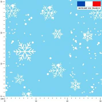 Flocon de neige - Fond bleu clair