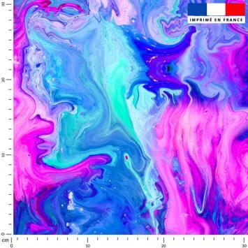Magma rose et bleu effet peinture