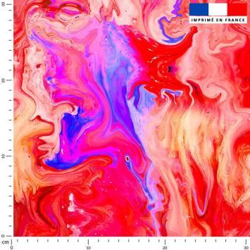 Magma rouge et rose effet peinture