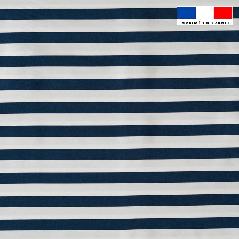 Lycra motif marinière bleue et blanche