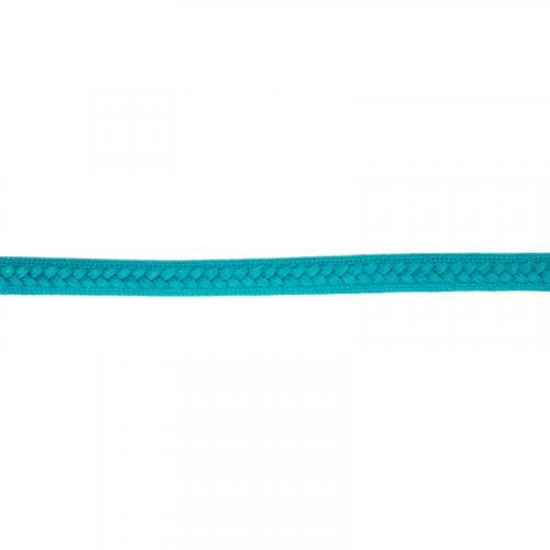 Galon tressé 13 mm bleu turquoise
