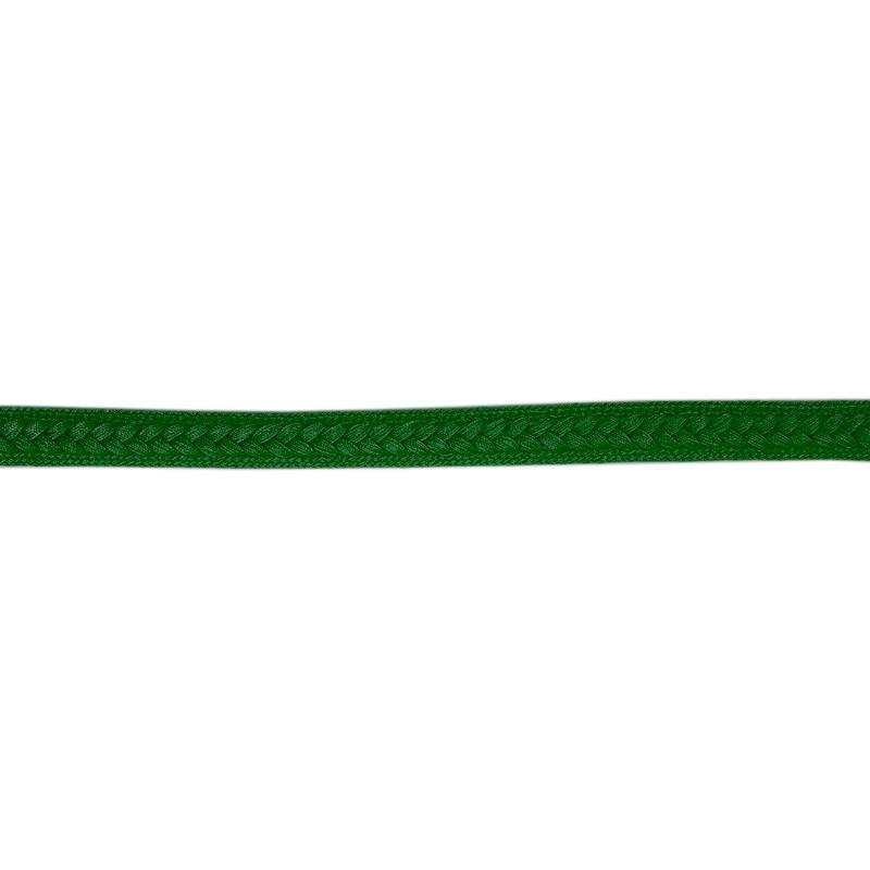 Galon tressé 13 mm vert