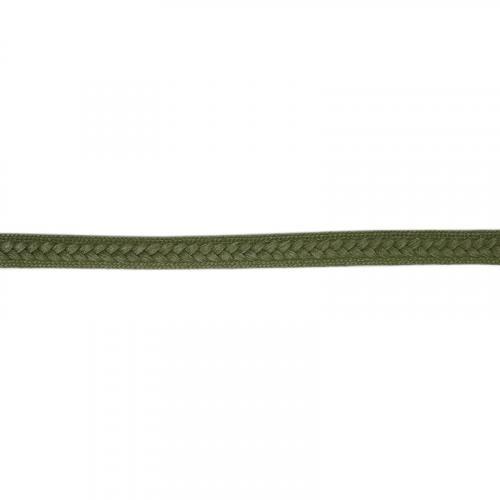 Galon tressé 13 mm vert militaire
