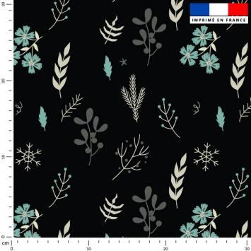 Fleurs d'hiver - Fond noir