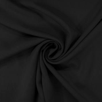 coupon - Coupon 60cm - Tissu viscose twill noir