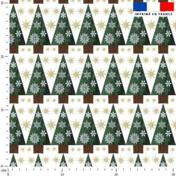Noël grand sapin - Fond écru